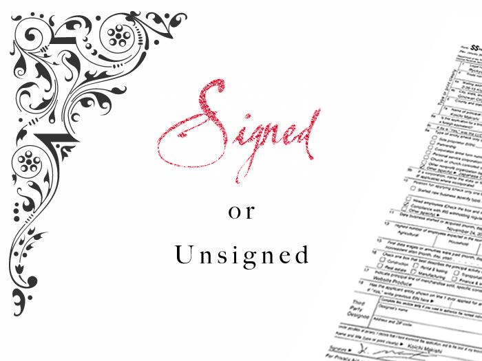 ブログ記事・あなたは署名派? 無署名派?