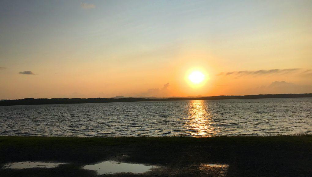 クッチャロ湖夕陽